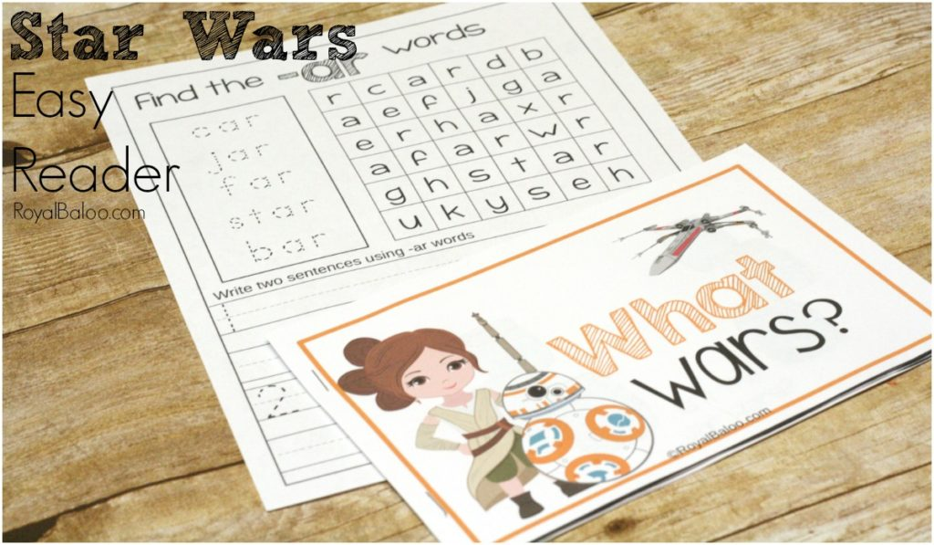 Learning to read with Star Wars Easy Reader is the best!  Simple and funny easy reader with a few practice pages for Star Wars!