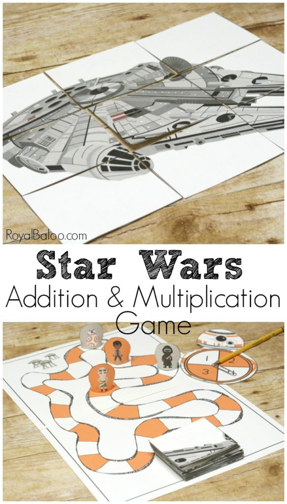 Learn math facts with a Star Wars math game!  Star wars addition and multiplication makes learning math facts fun and a breeze!