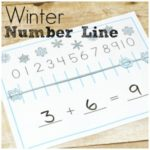 Winter Number Line for Chilly Math Fun