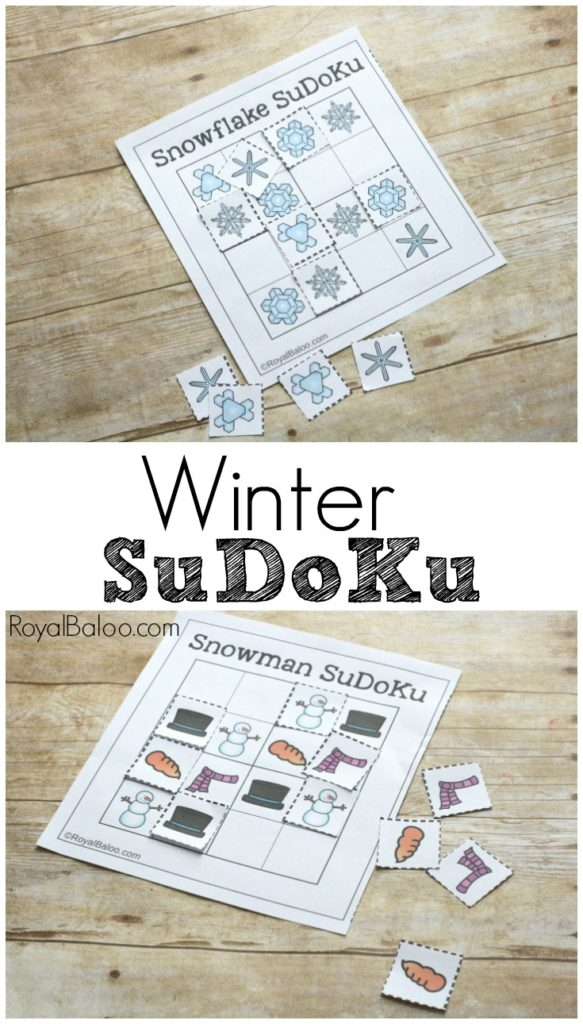 Puzzles and patterns don't have to be boring with SuDoKu! Winter SuDoKu provides plenty of math and puzzle fun for young kids!