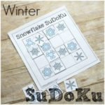 Winter SuDoKu for Math Puzzle Fun