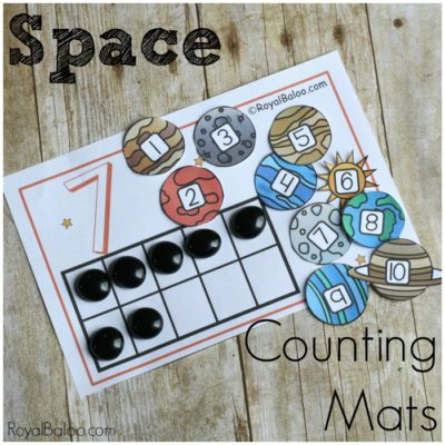 Space Counting Mats for Hands on Counting and Addition