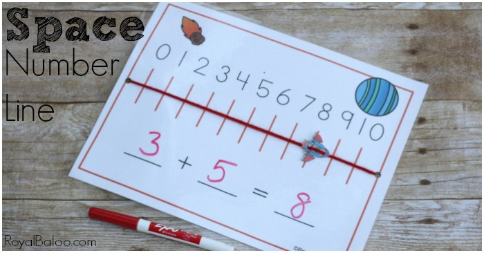 Hands on addition gets better results! Use this space number line to promote hands on learning! Practice addition, subtraction, skip counting, and more.