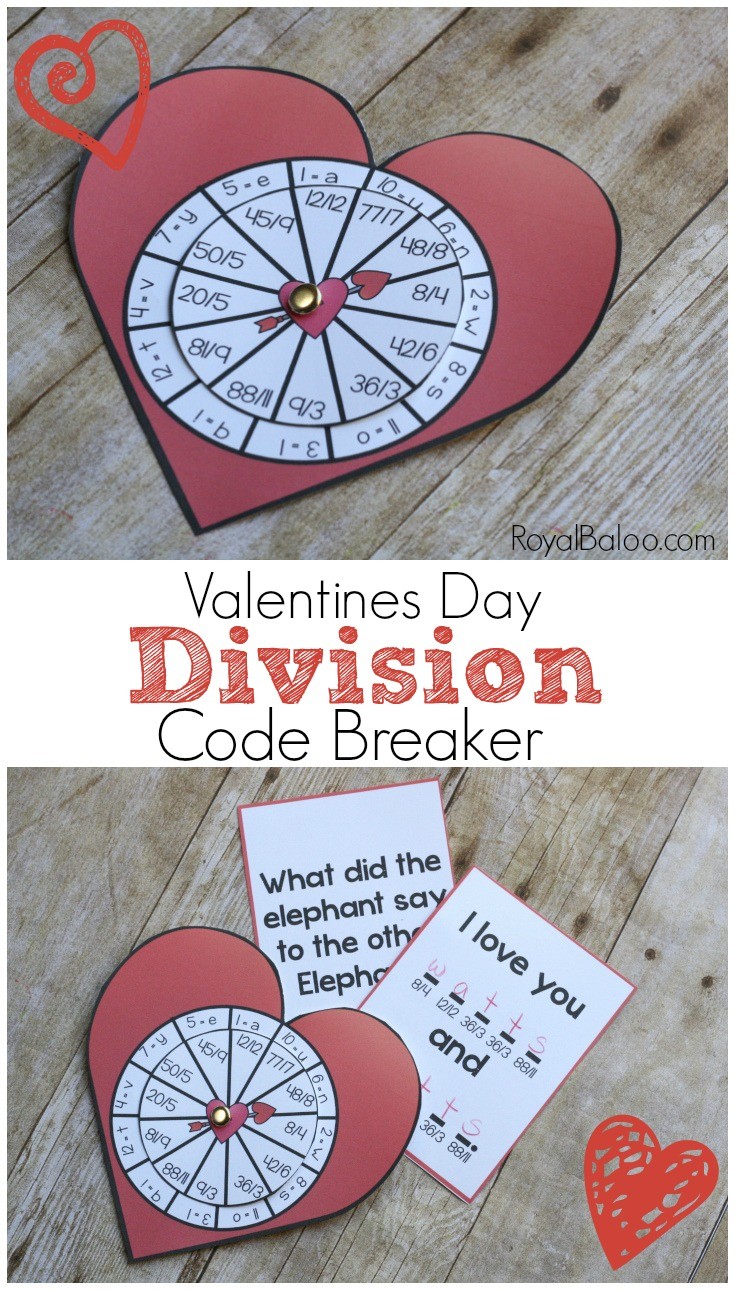 Division practice has never been more fun! These Valentines Day Division Code Breakers are sure to be a math hit for great math practice!