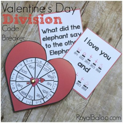Division Code Breakers for Valentines Day Math Fun