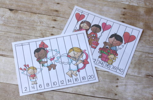 Skip counting is much more fun with a puzzle! And these valentines day skip counting puzzles are tons of fun. Great practice for skip counting by 2s!
