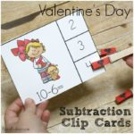 Subtraction Fun with Valentines Day Clip Cards