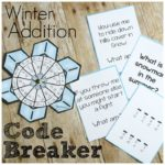 Winter Addition Code Breaker with Winter Riddles