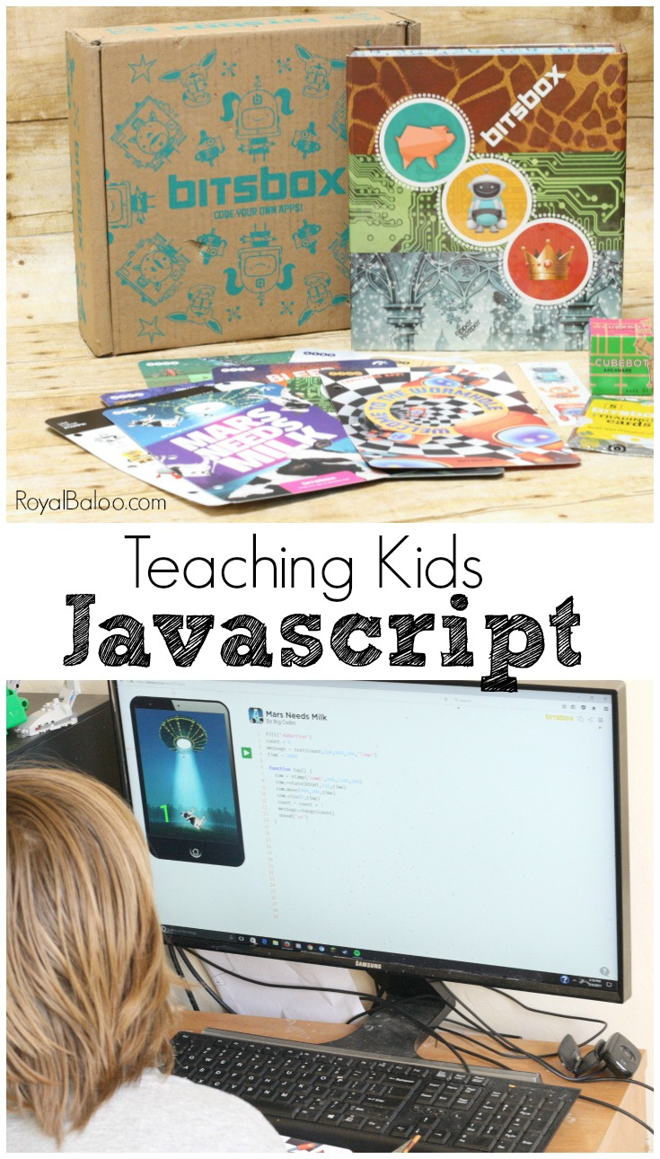 Teaching kids javascript doesn't have to be hard! Let's BitsBox do all the work for you as you kids play and learn to code!