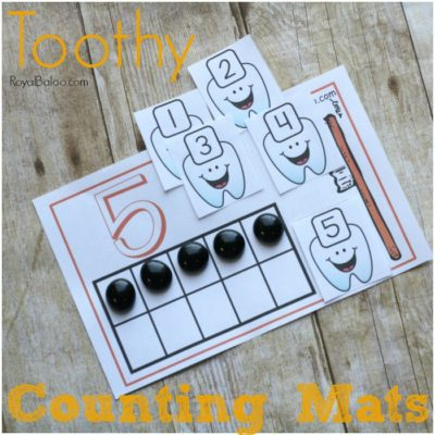 Tooth Counting Mats for a Fun Dental Health Unit