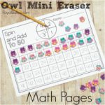 Owl Mini Eraser Math Packs for Early Elementary