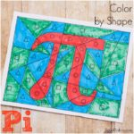 Pi Color by Shape – Fun Pi Activity for Kids