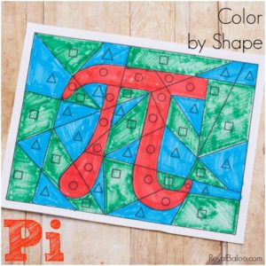 Teach kids the concept of pi with this fun pi color by shape!  It's a simple, no prep, printable activity that would be perfect for pi day.