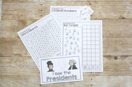 This no prep printable presidents day unit study will make planning for presidents day so much easier for you! Math, reading, and other activities included!