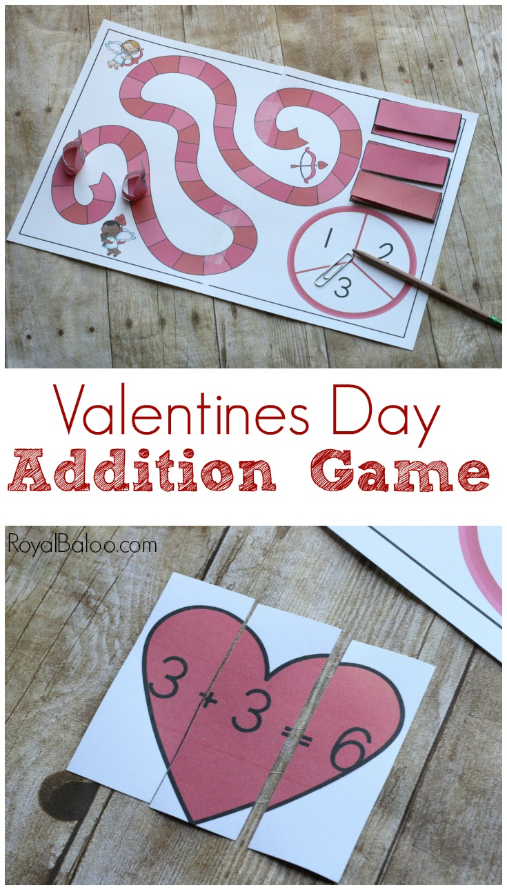 This fun Valentines Day addition game is the perfect addition to a Valentines Day math activity! Practice sums of 5-10 with this lovely game!