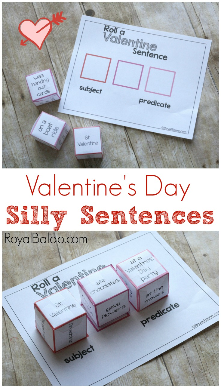 Valentines Day Silly Sentences are a hilarious way to practice parts of speech Get your kids going (physically and intellectually) with this simple activity