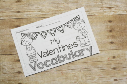 Vocabulary can be fun again with Valentines tearable vocabulary! Practice valentines vocabulary and add the words to a fun little booklet!