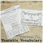 Valentines Tearable Vocabulary Posters and Booklet