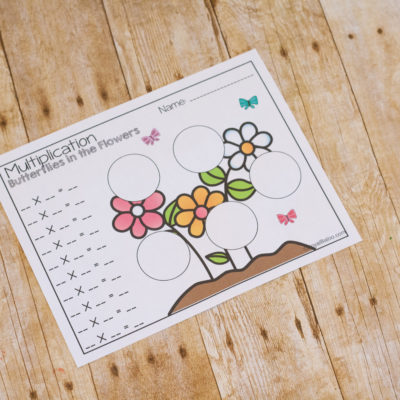 Hands On Butterfly Math Set with Mini Erasers