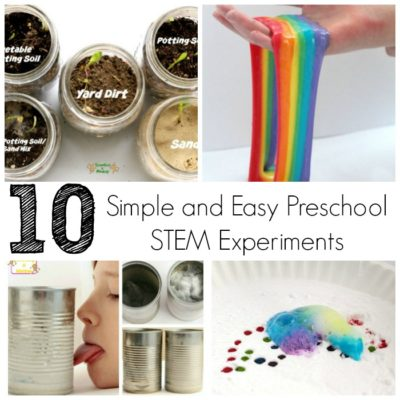10 Simple and Easy Preschool STEM Experiments