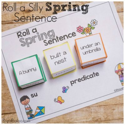 Fun Reading and Writing with Roll a Spring Sentence