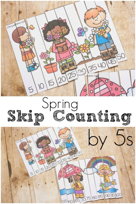 Practice skip counting in style with fresh and new spring skip counting puzzles! Practice skip counting by 5s with this fun activity.