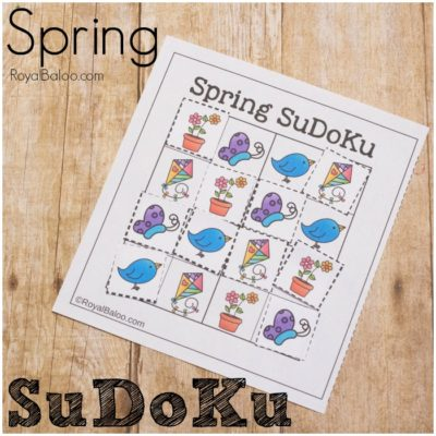 Spring SuDoKu for Logic Practice with Kids