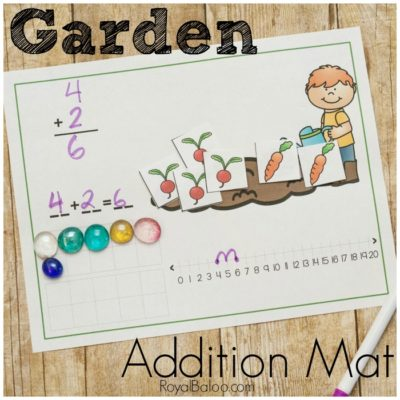 Garden Addition Mats for Hands On Math Practice