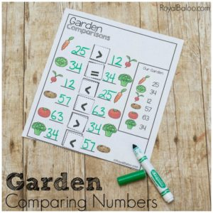 Garden Comparisons with Single and Double Digits