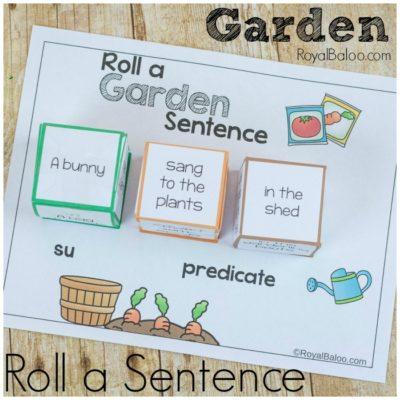 Garden Roll a Silly Sentence