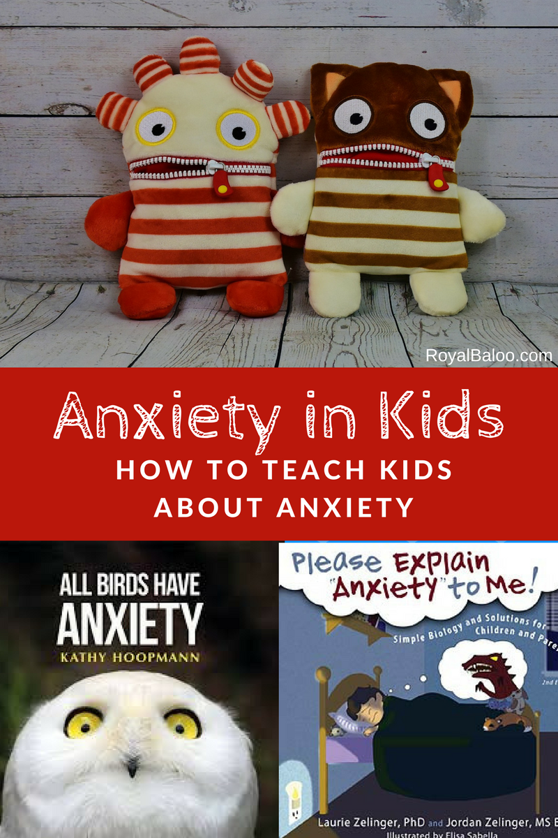 Sometimes kids feel anxious but they don't know how to talk about it.  Talk to them before they ever feel that way and open the discussion on anxiety.