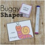 Buggy Shape Cards Math and Handwriting
