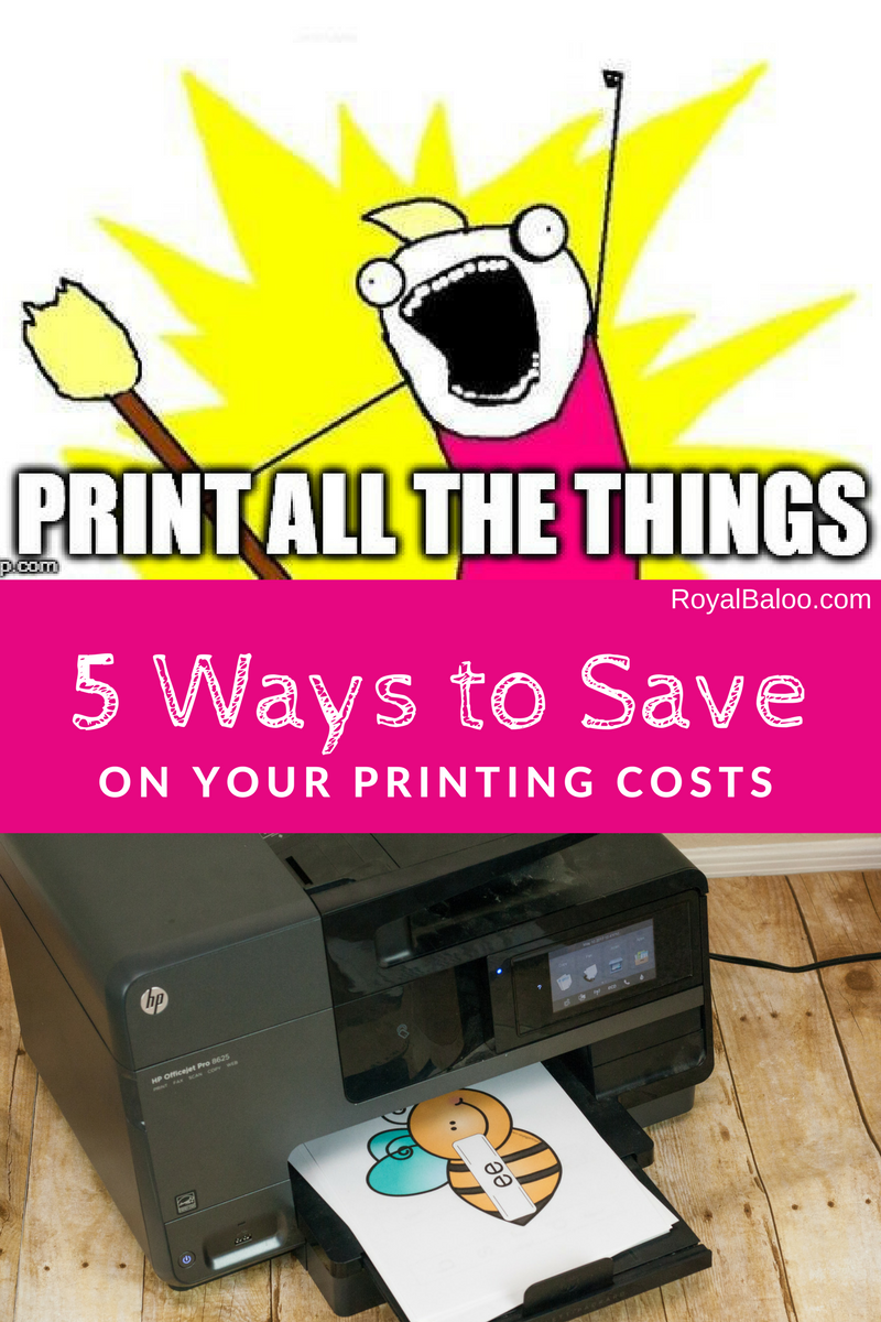 Printing can be so dang expensive.  Save a bit of money and print everything with these 5 simple tips.  Don't choose between color and BW anymore!