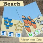 Dry Erase Addition Practice with a Beach Theme