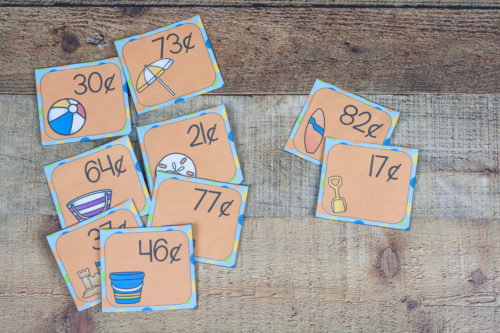 Learn all about coins and money with these fun beach money games! Count coins, compare amounts, and pretend to buy the beach items.