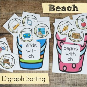 Beach Digraph Sorting for Beginning Readers