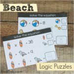 Beach Math Logic Puzzles for Kids