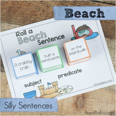 Fun Reading Practice with Beach Silly Sentences