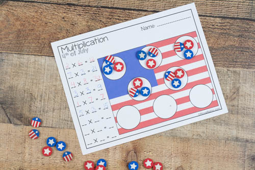 Celebrate the 4th of July and work on math skills all at once. These hands on mini eraser printables make math fun and engaging.