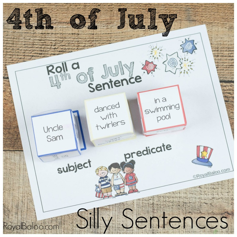4th of july silly sentences for silly reading fun royal baloo