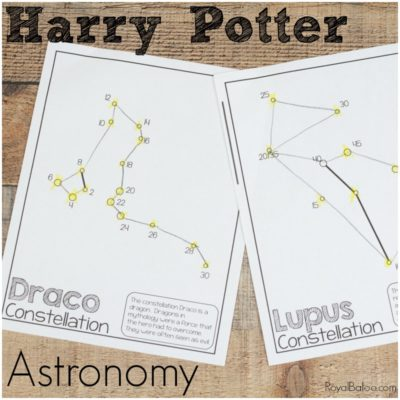 Harry Potter Astronomy with Constellations and Jupiter's Moons