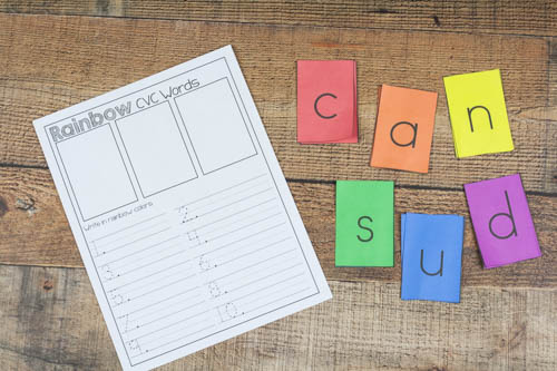Enjoy colorful and vibrant learning with these fun Rainbow CVC Words. Learn to read with colorful CVC pages! Build words, read them, and write them!