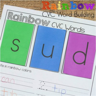 Learn to Read with Rainbow CVC Words