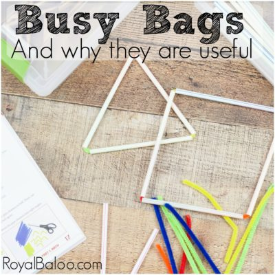 3 Benefits to Busy Bags for Kindergarteners