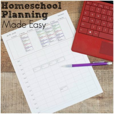 Homeschool Planner for Easy Curriculum Planning