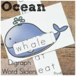 Ocean Digraph Sliders for Fun Reading Practice