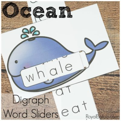 Ocean Digraph Sliders for Fun Reading Practice