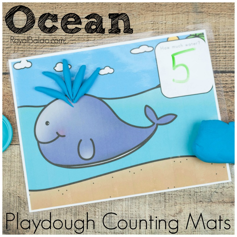 Ocean Playdough Math Mats For Counting And Addition