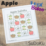 Apple SuDoKu Printables Puzzles for Kids