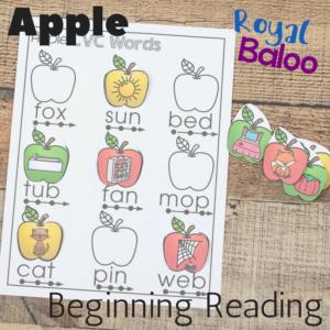 Apple Beginning Reading with CVC Words